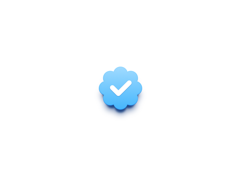 Badge by eli schiff. Twitter verified png