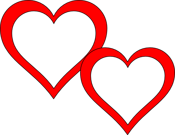 Two hearts png. Touching clip art at