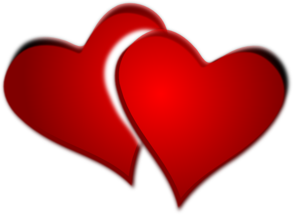 Red clip art at. Two hearts png