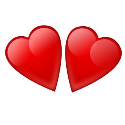 Heart image royalty free. Two hearts png