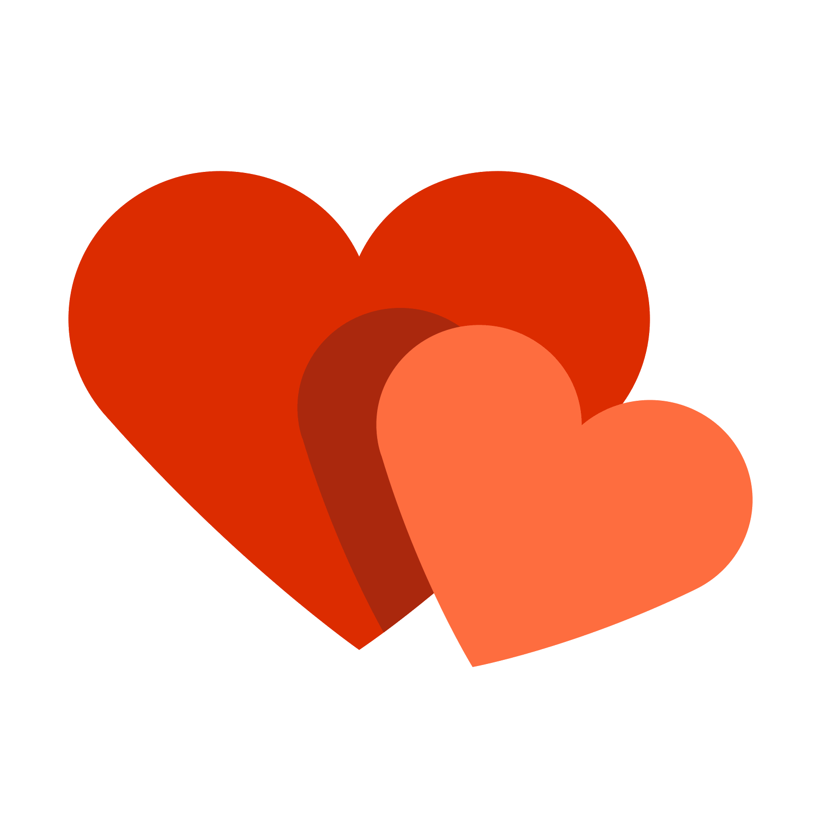 Two hearts png.  icon the heart