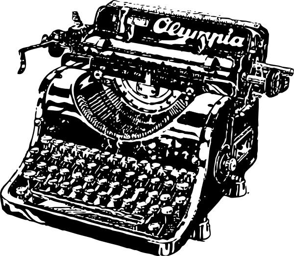 Clip art free vector. Typewriter clipart
