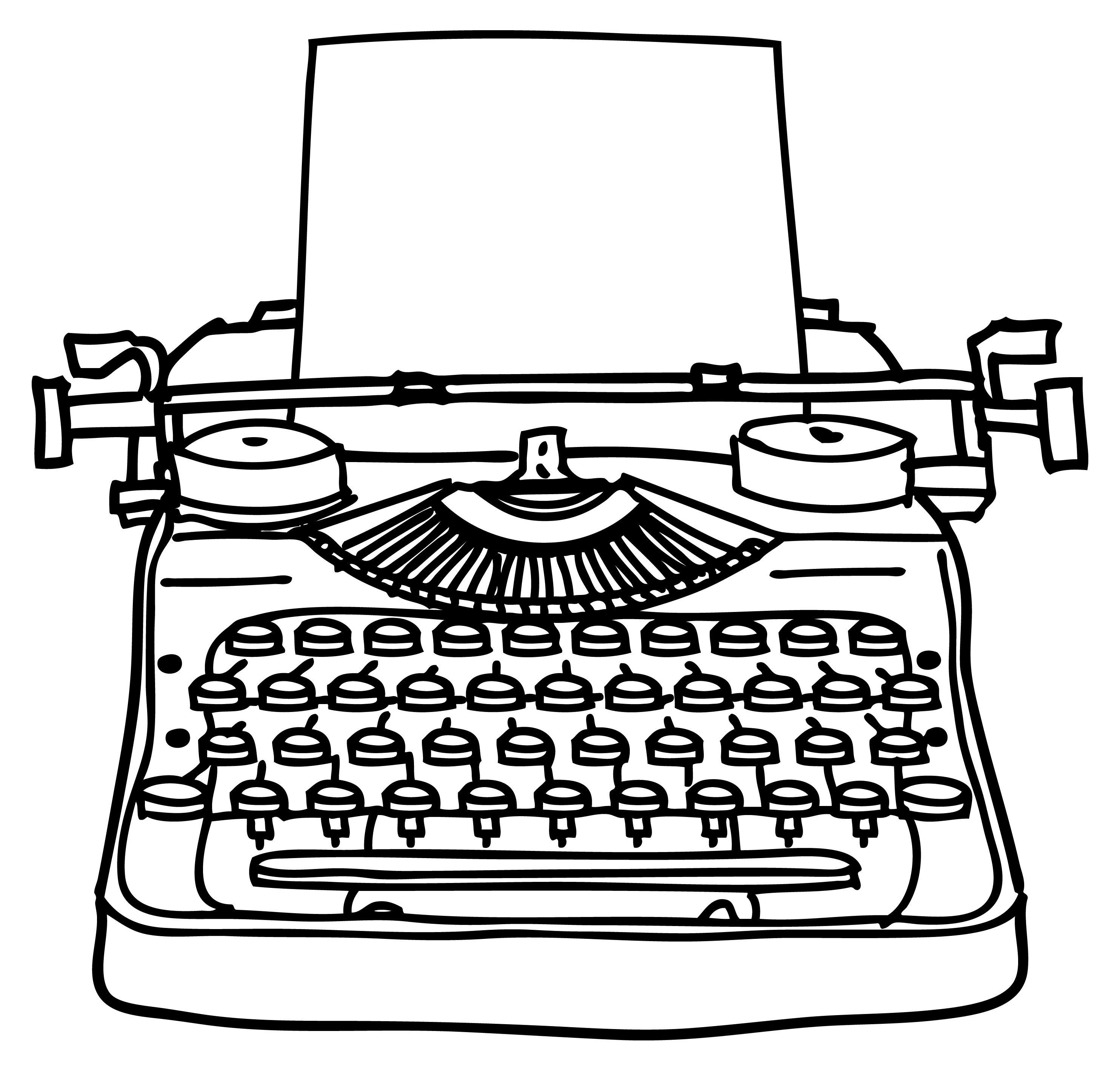 Old clip art google. Typewriter clipart