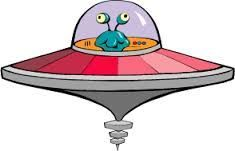 Pin on stamps . Ufo clipart alein