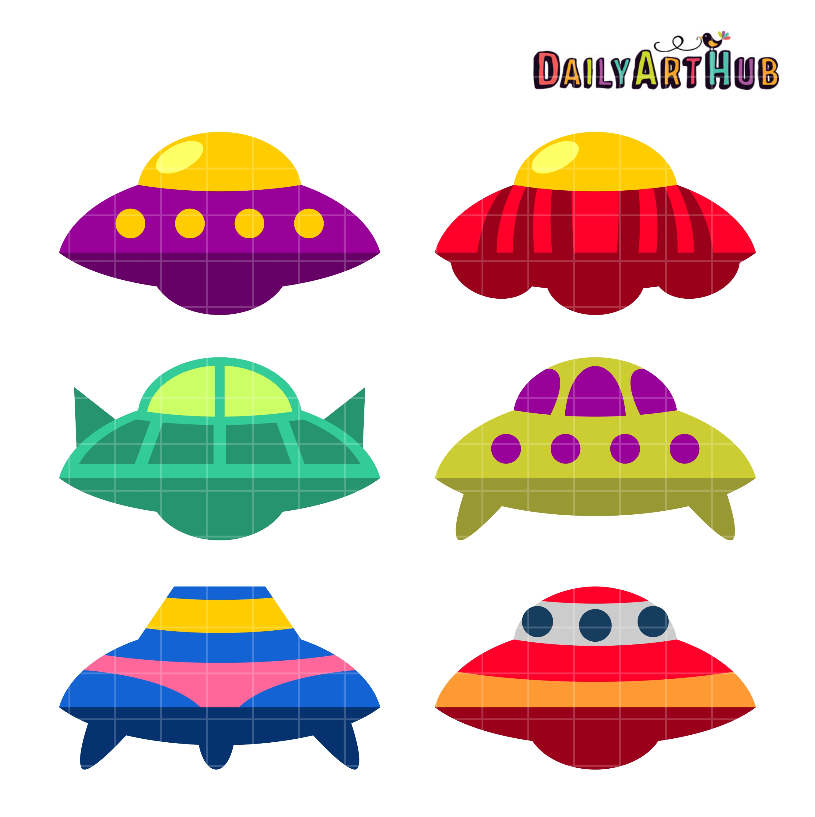 Ufo clipart colorful. Free download best on