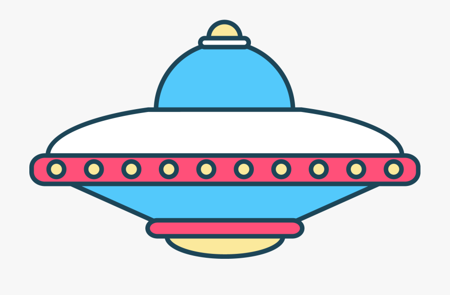 Spaceship space ship png. Ufo clipart colorful