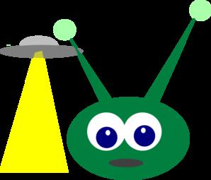 Ufo clipart green. Alien with clip art