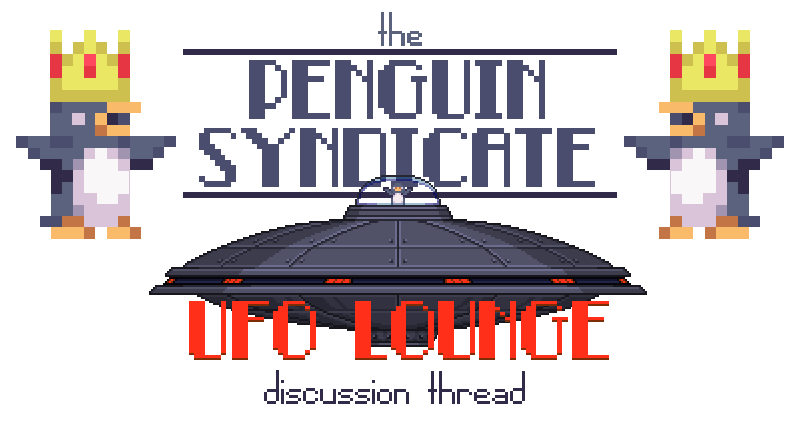 Ufo clipart intruder. The penguin syndicate lounge