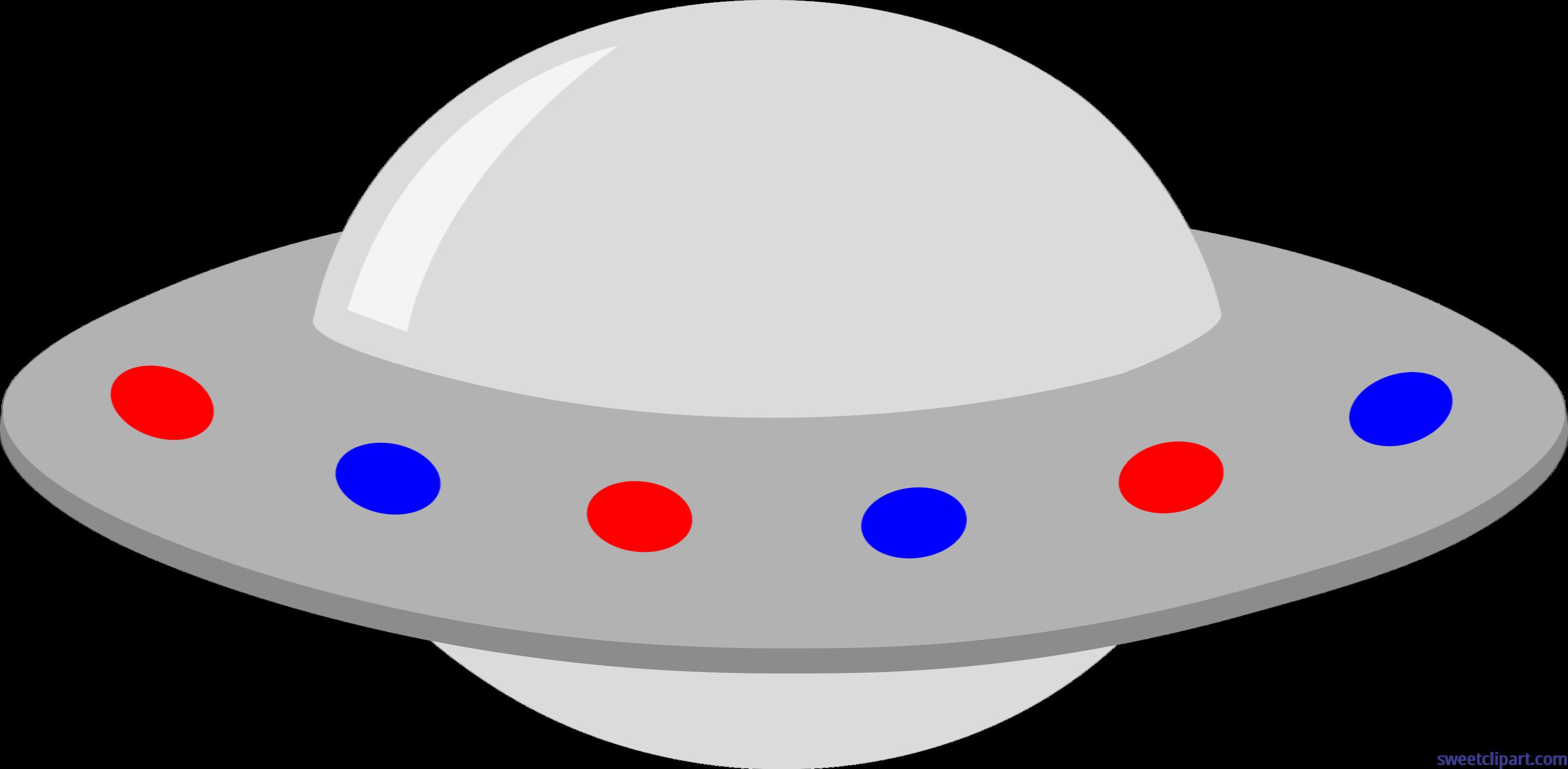 Ufo clipart line art. Gray red blue clip