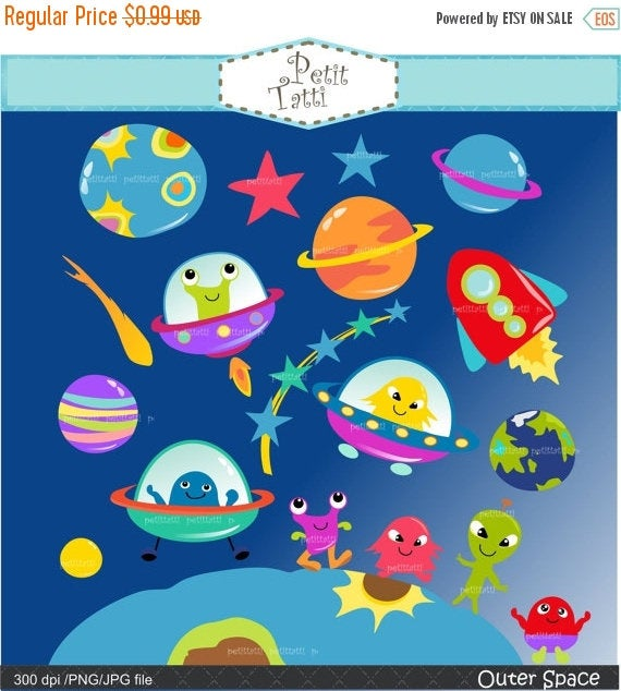 Ufo clipart outer space. On sale clip art