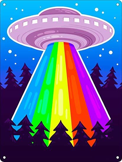 Amazon com erica violet. Ufo clipart rainbow