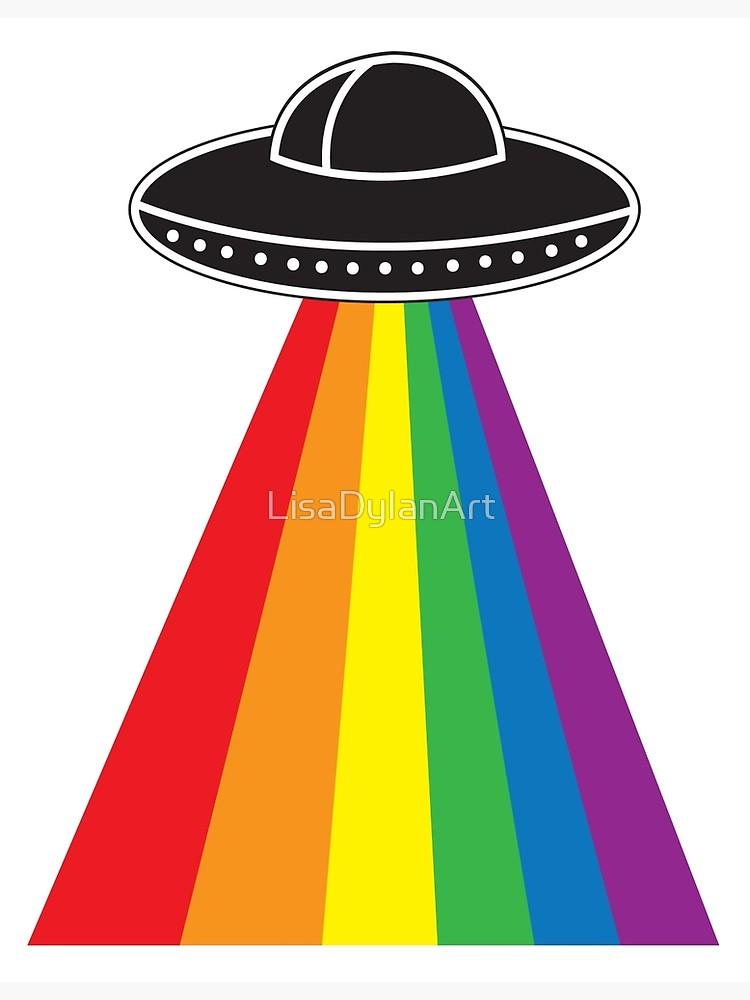 Photographic print . Ufo clipart rainbow