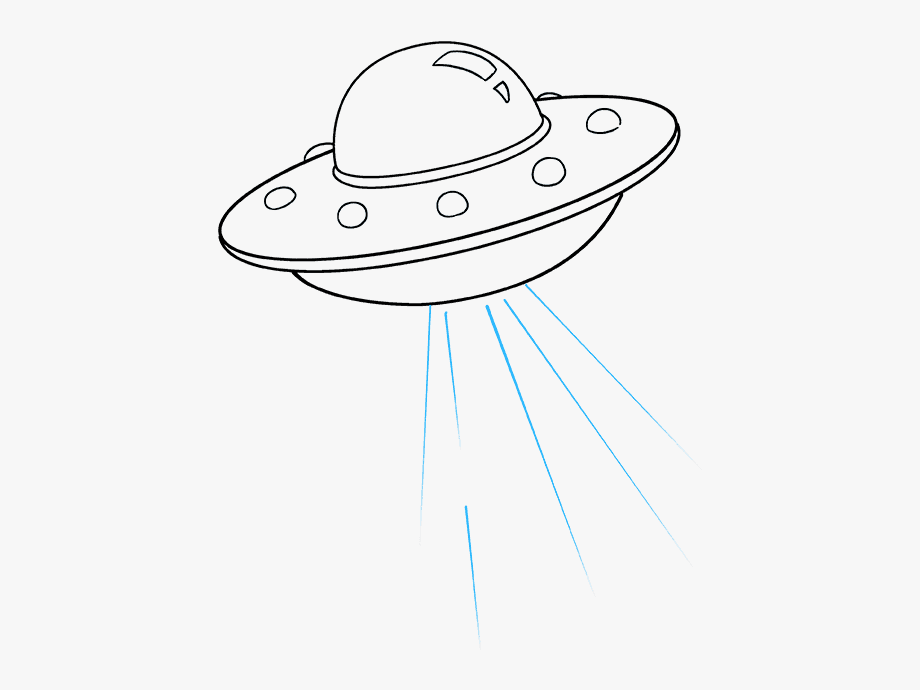 How to draw easy. Ufo clipart simple