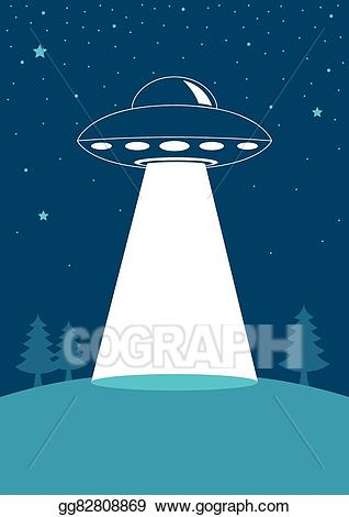 Ufo clipart simple. Vector art drawing gg
