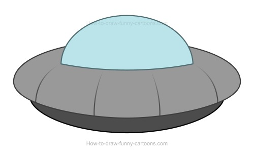 Ufo clipart simple cartoon. How to draw a