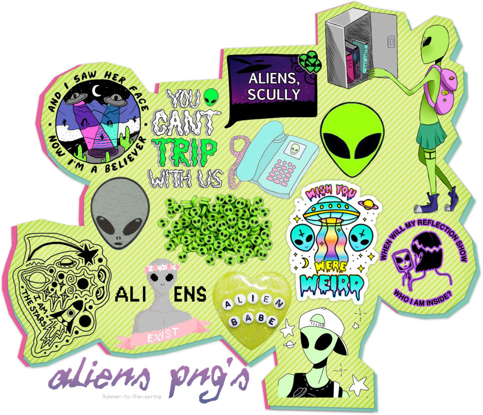 Aliens png s by. Ufo clipart transparent tumblr