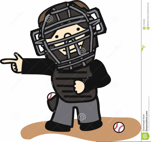 Softball free images at. Umpire clipart