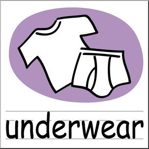 Clip art basic words. Underwear clipart