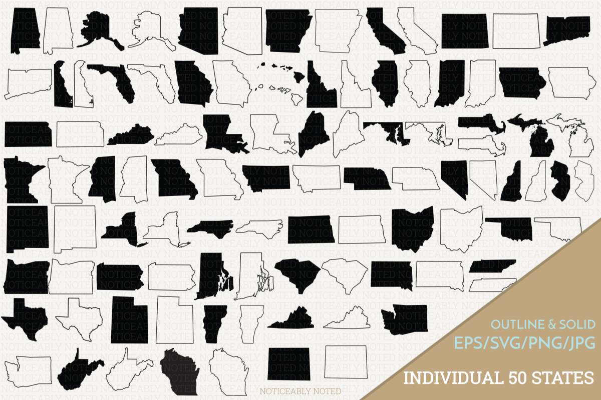 United states clipart 50 state. All vectors clip art