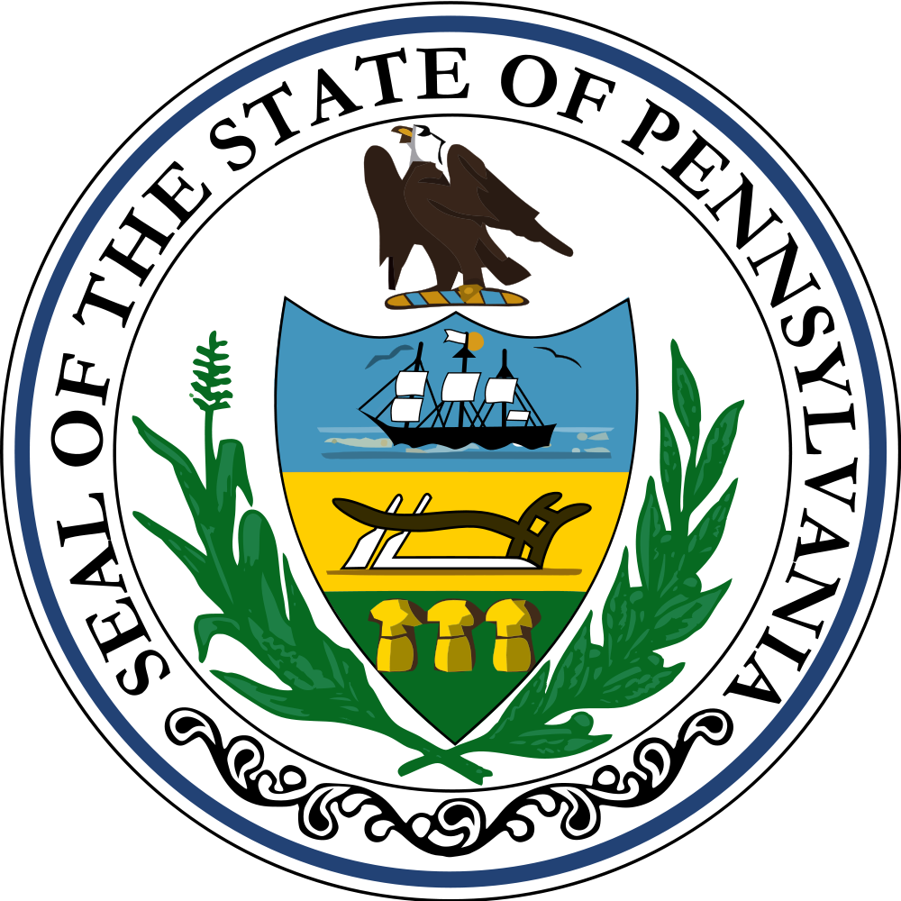 Pennsylvania seal of pa. United states clipart 50 state