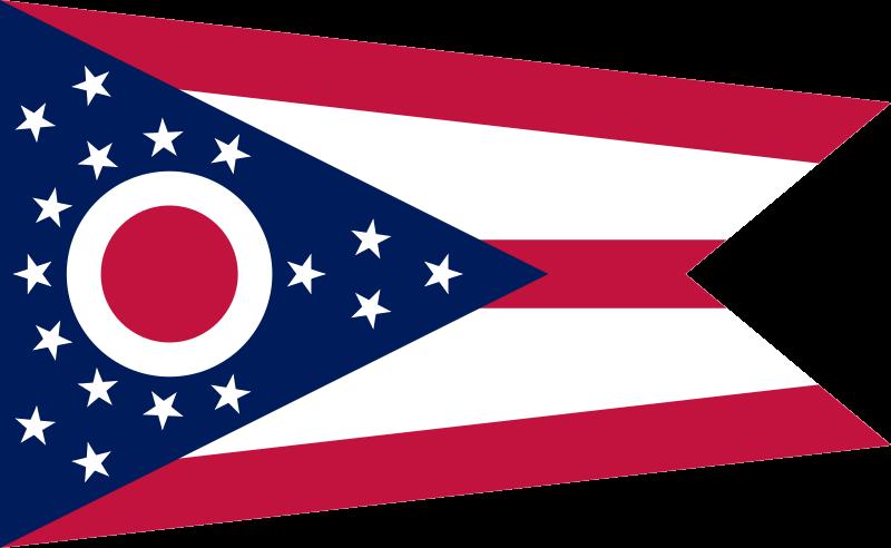 File flag of ohio. United states clipart 50 state