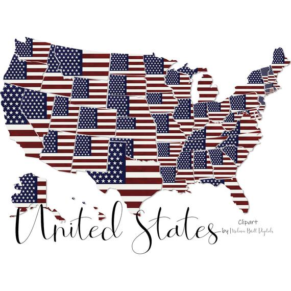 Usa clip art american. United states clipart 50 state