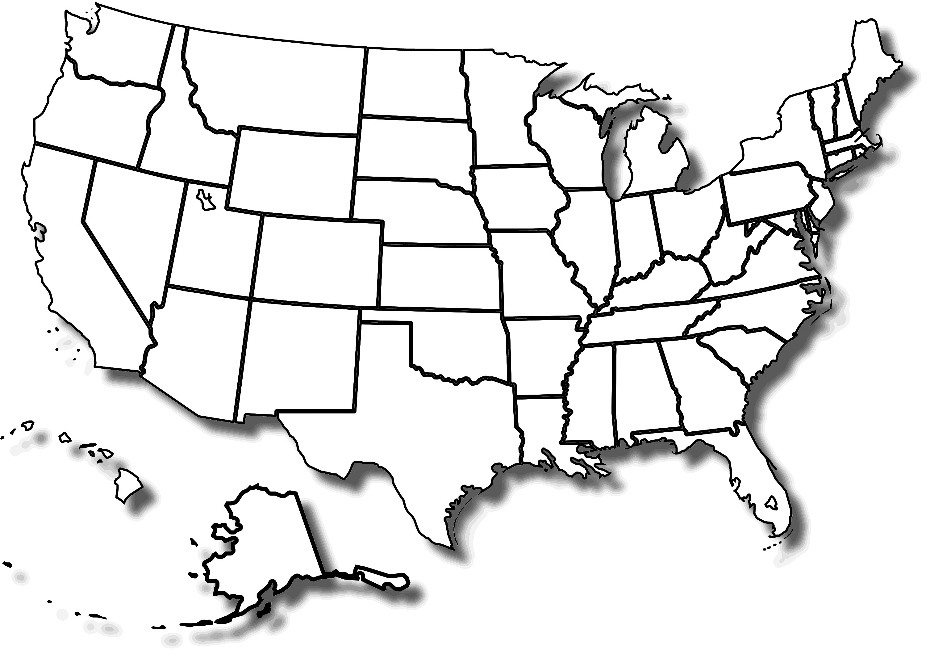United states clipart. Coloring map of us