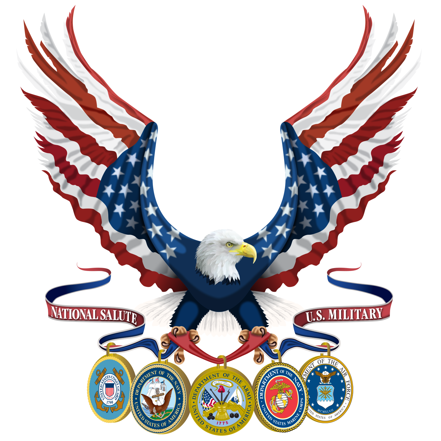 United states clipart american flag eagle, United states ...