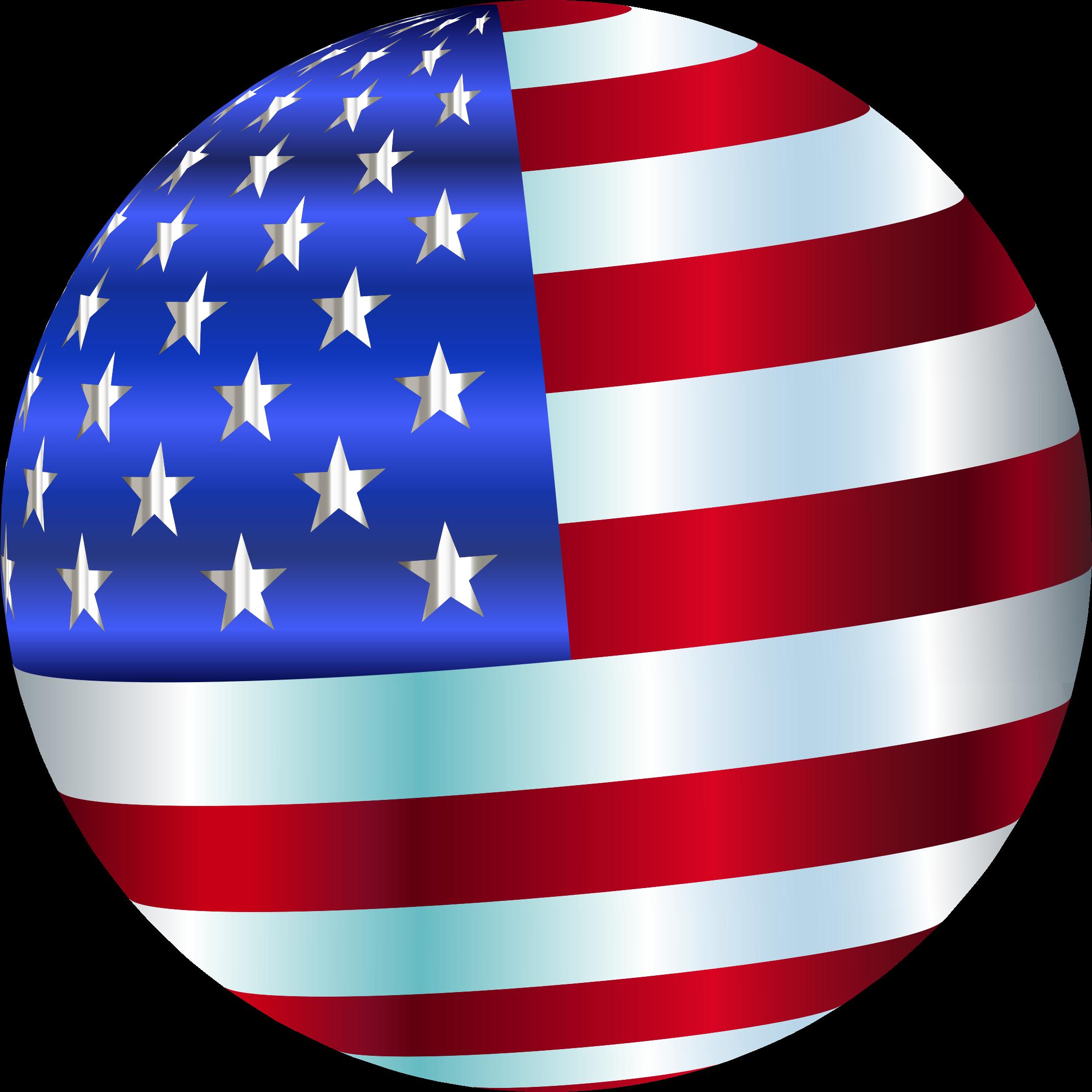 Flag sphere enhanced big. Usa clipart clip art