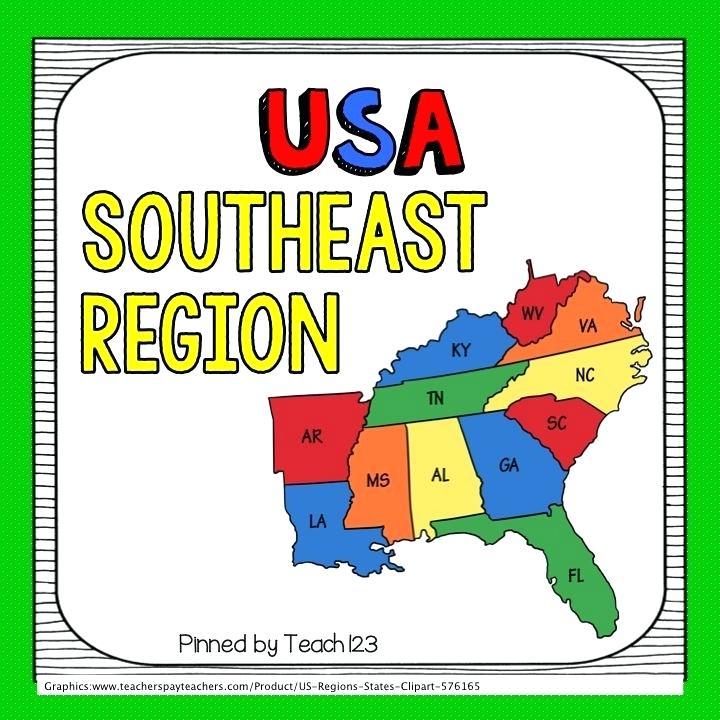 Southeast map inkyana me. United states clipart region us