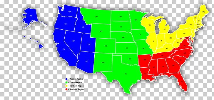Southern map western sales. United states clipart region us