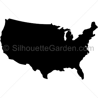 . United states clipart silhouette