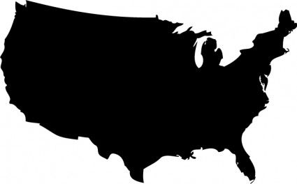 Google search crafts stencils. United states clipart silhouette