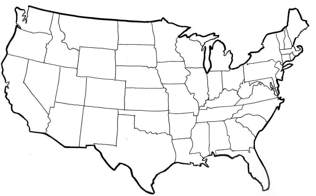 United states clipart template, United states template ...