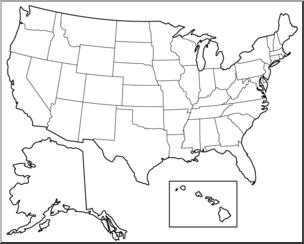 United states clipart unlabeled, United states unlabeled ...