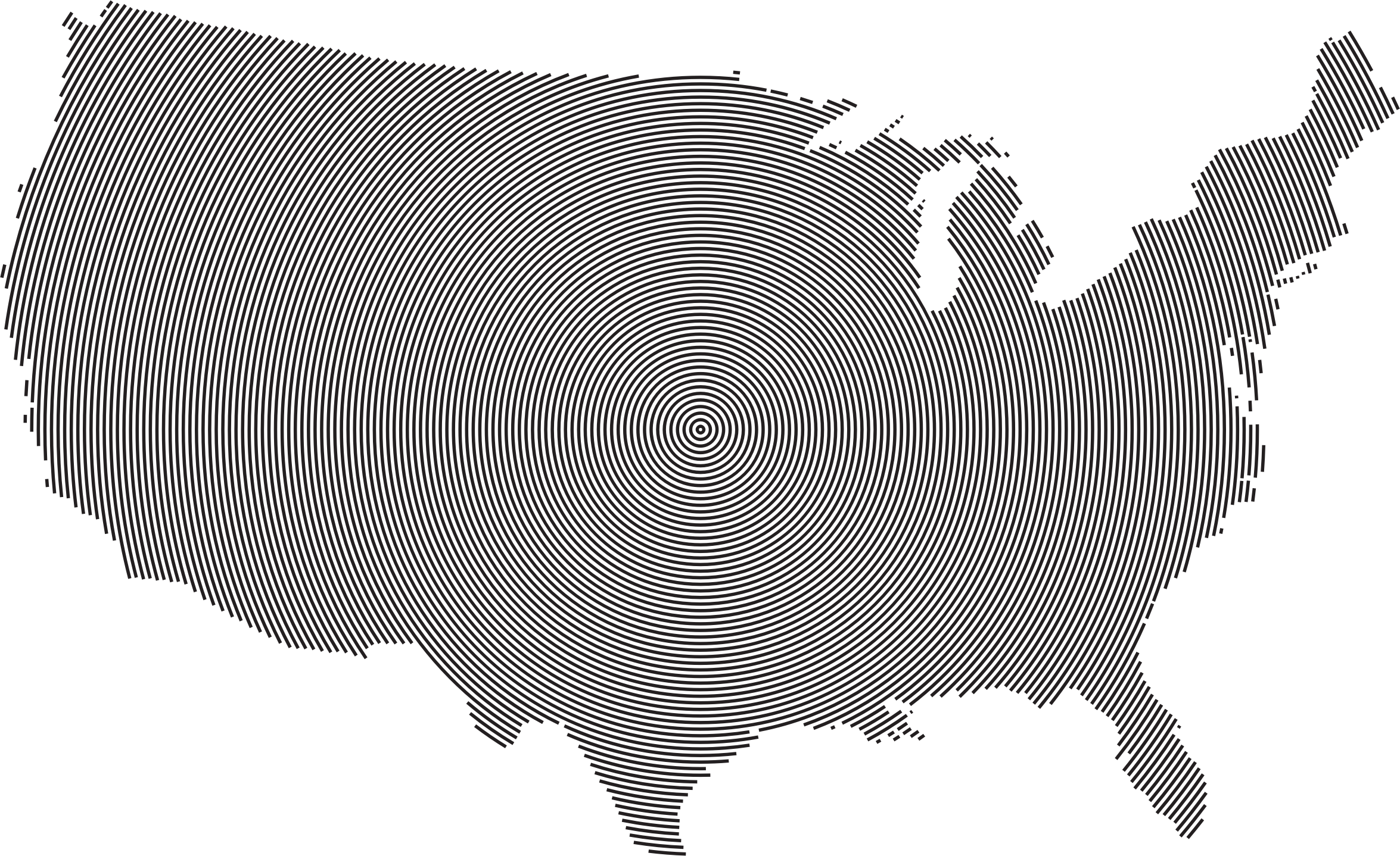 United states clipart unoted. Concentric circles big image