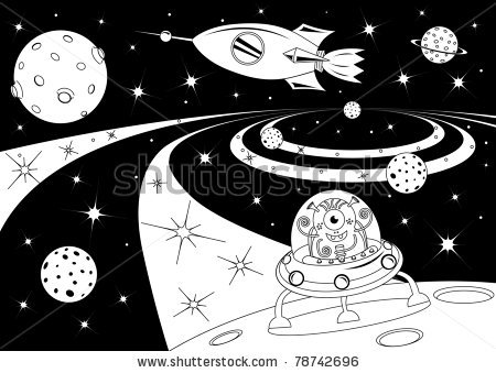 Black and white . Universe clipart