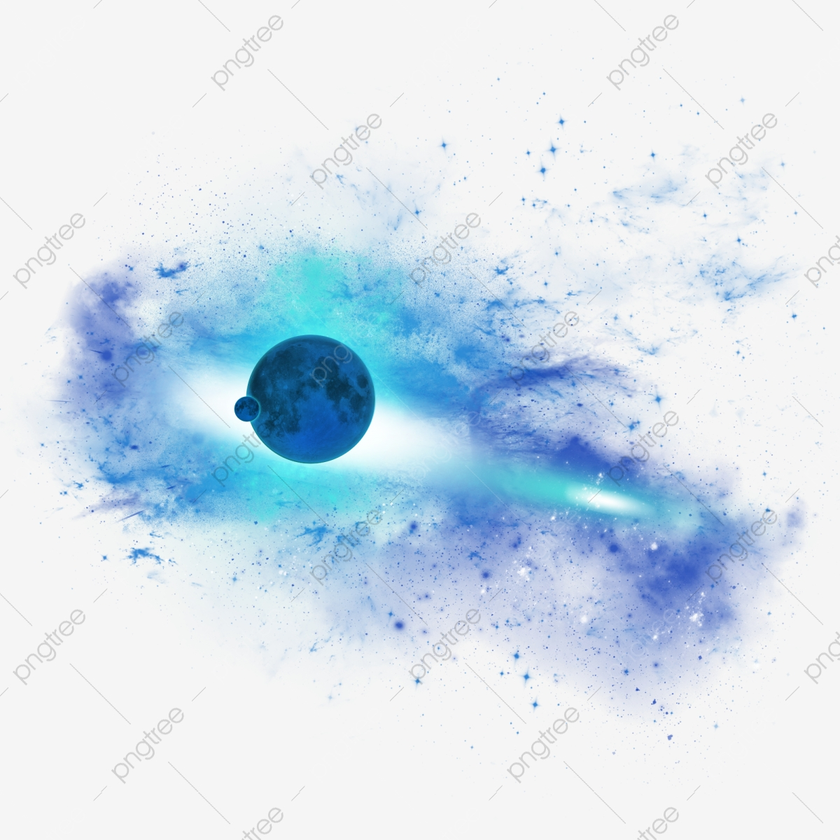 Starry moon space abstract. Universe clipart sky earth