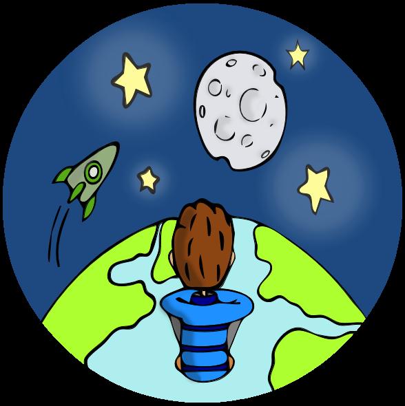 Universe space center