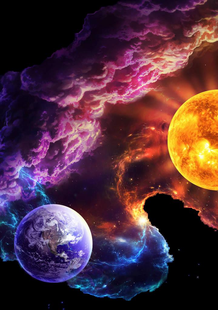 Clouds earth planets fantasy. Universe clipart sun planet