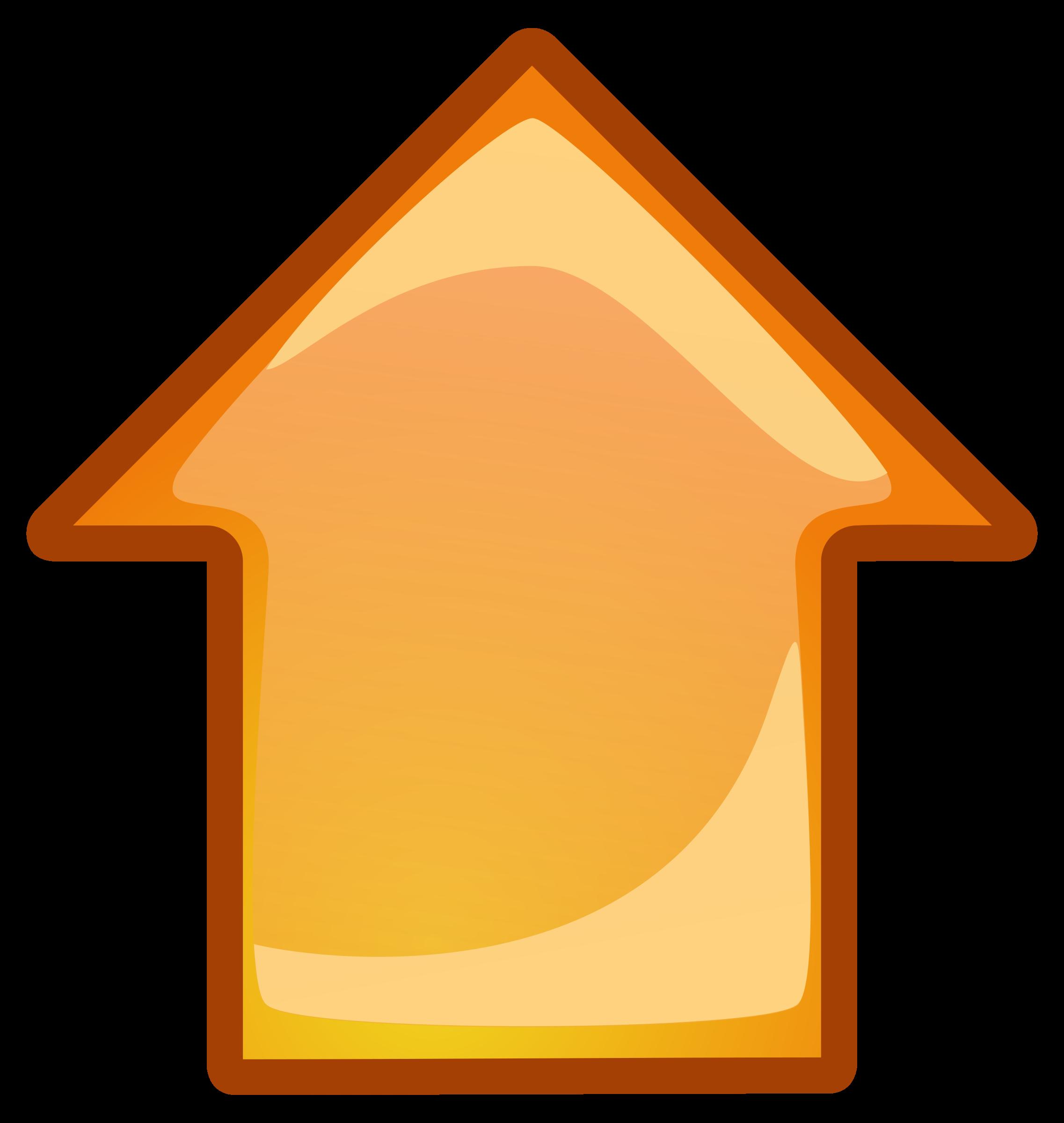 Orange big image png. Up clipart arrow