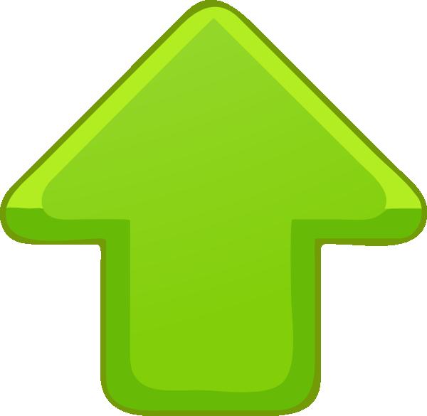 Green small clip art. Up clipart arrow