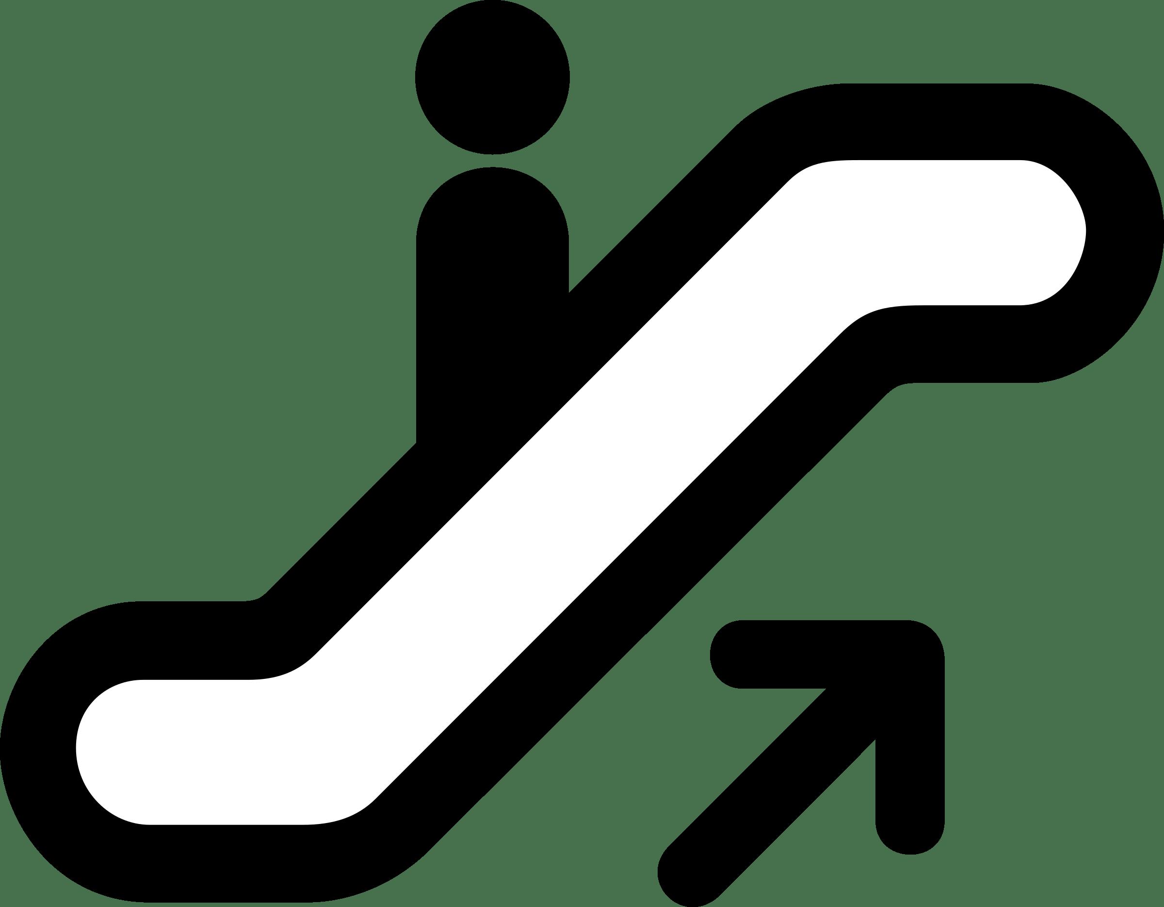 Escalator down transparent stickpng. Up clipart png