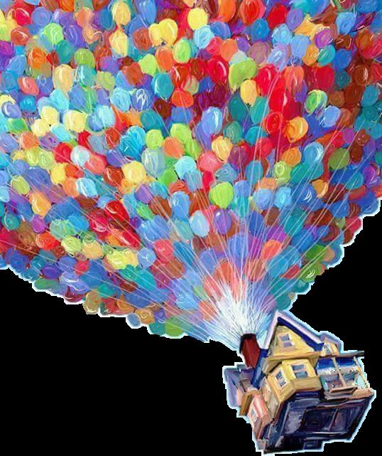 Hogar casa volando globos. Up house png