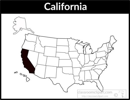 Us clipart. United states black white
