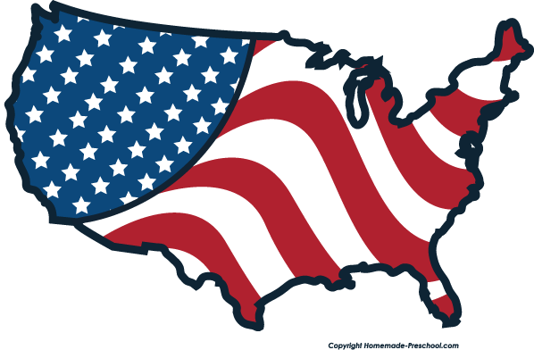 Flag free american flags. Us clipart