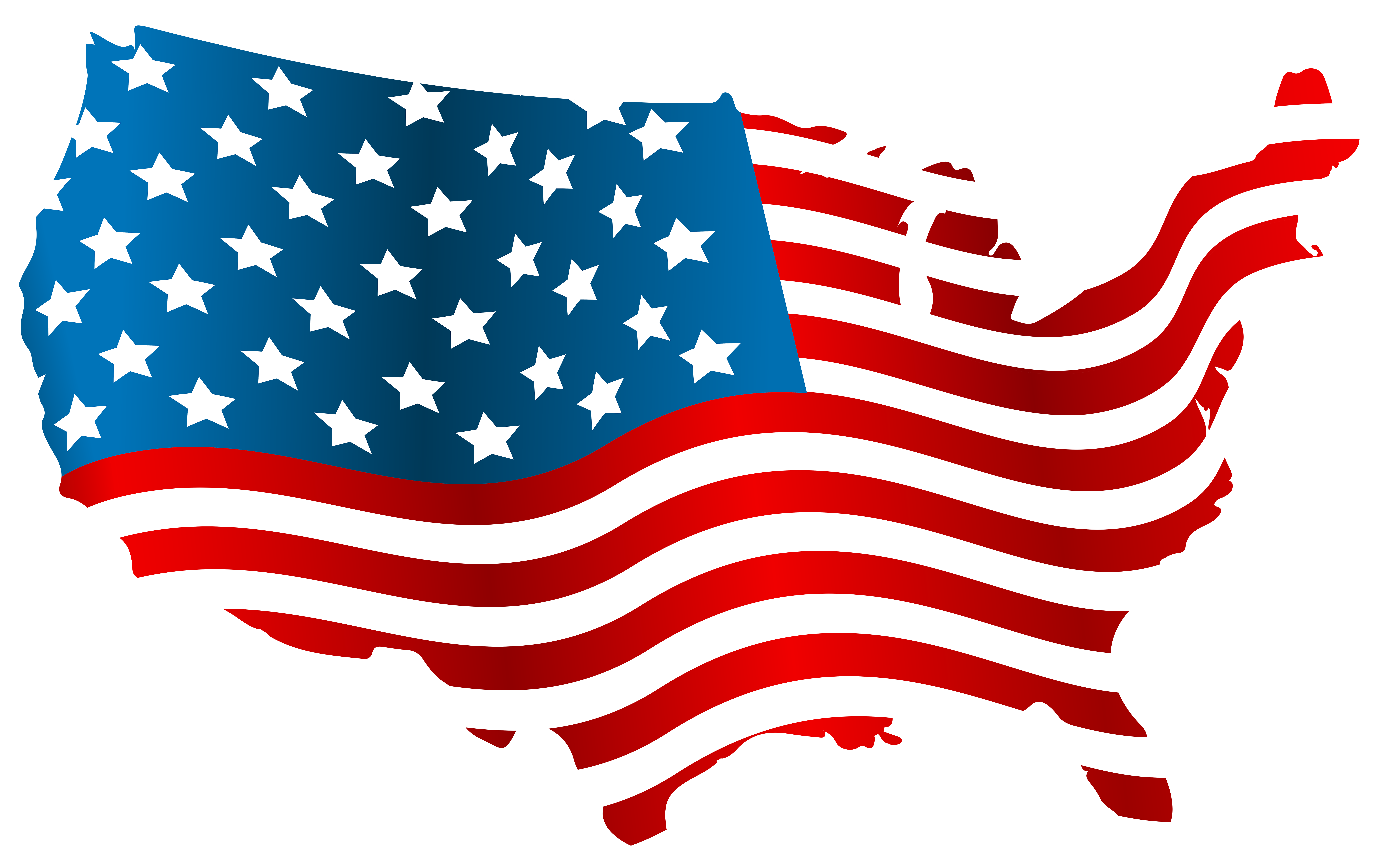 Usa map png clip. Clipart bow flag american