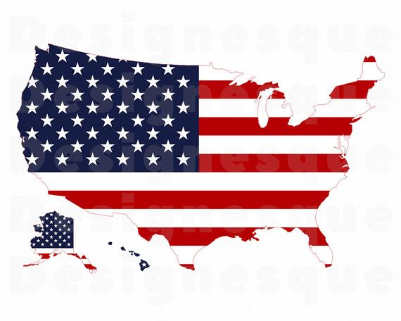 Usa clipart file. Us flag map svg