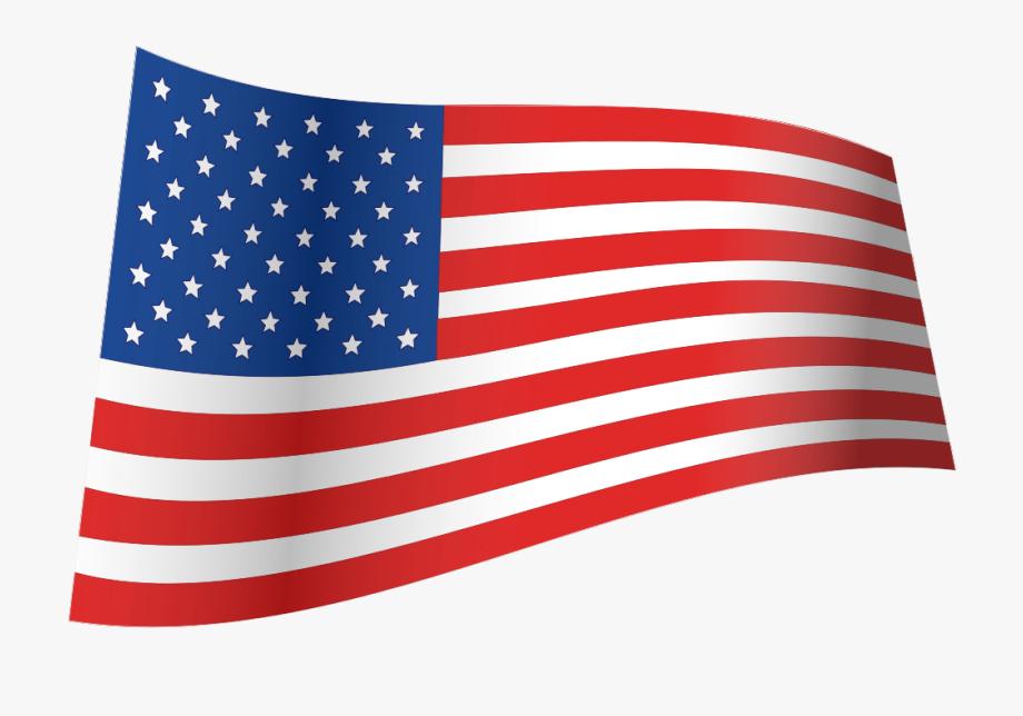 Us flag iconic waving. Usa clipart file