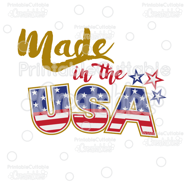 Made in the title. Usa clipart file